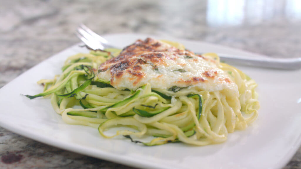 Spiralized Zucchini with Cheese
