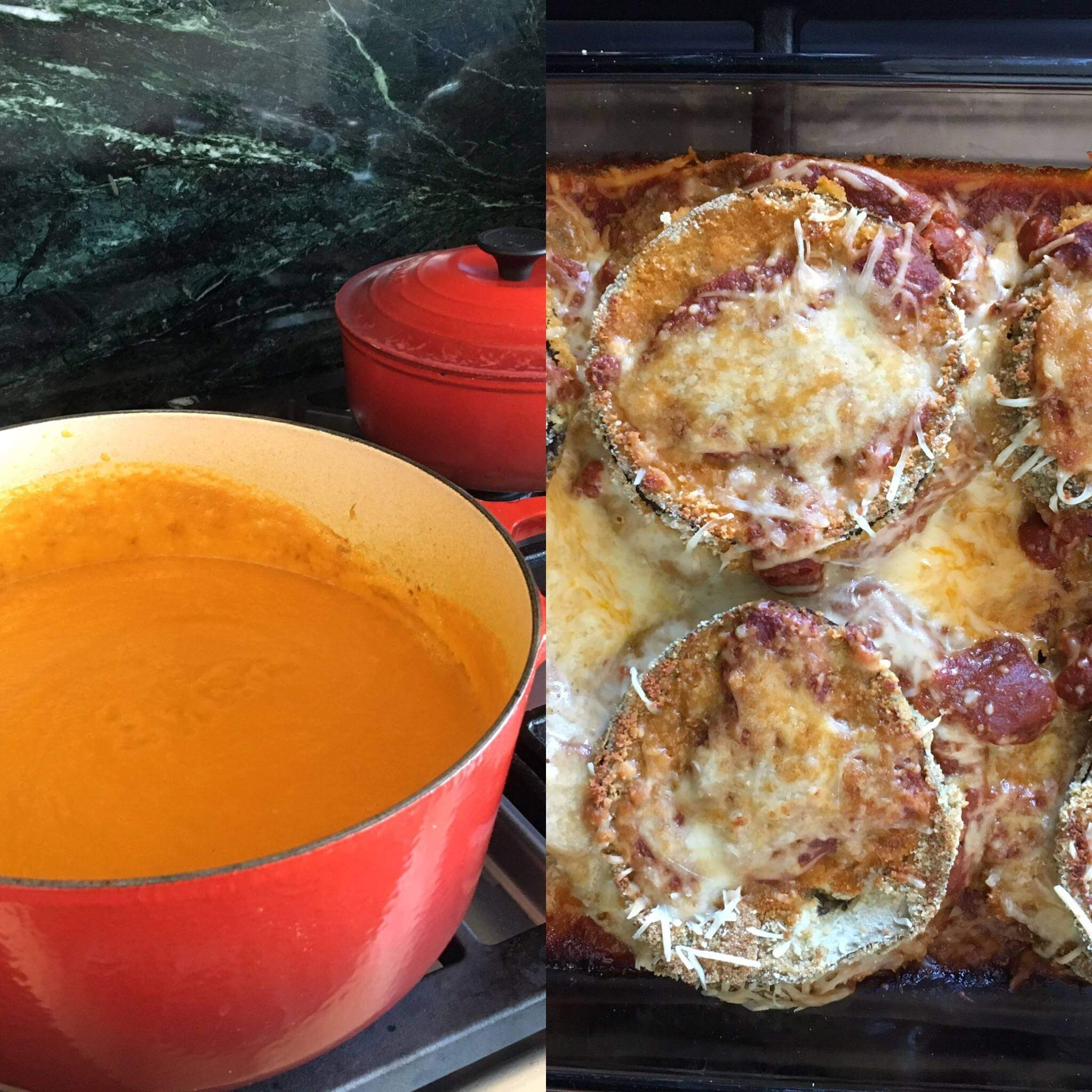 Weekly Recipe Round-Up: Carrot Soup and Eggplant Parmesan