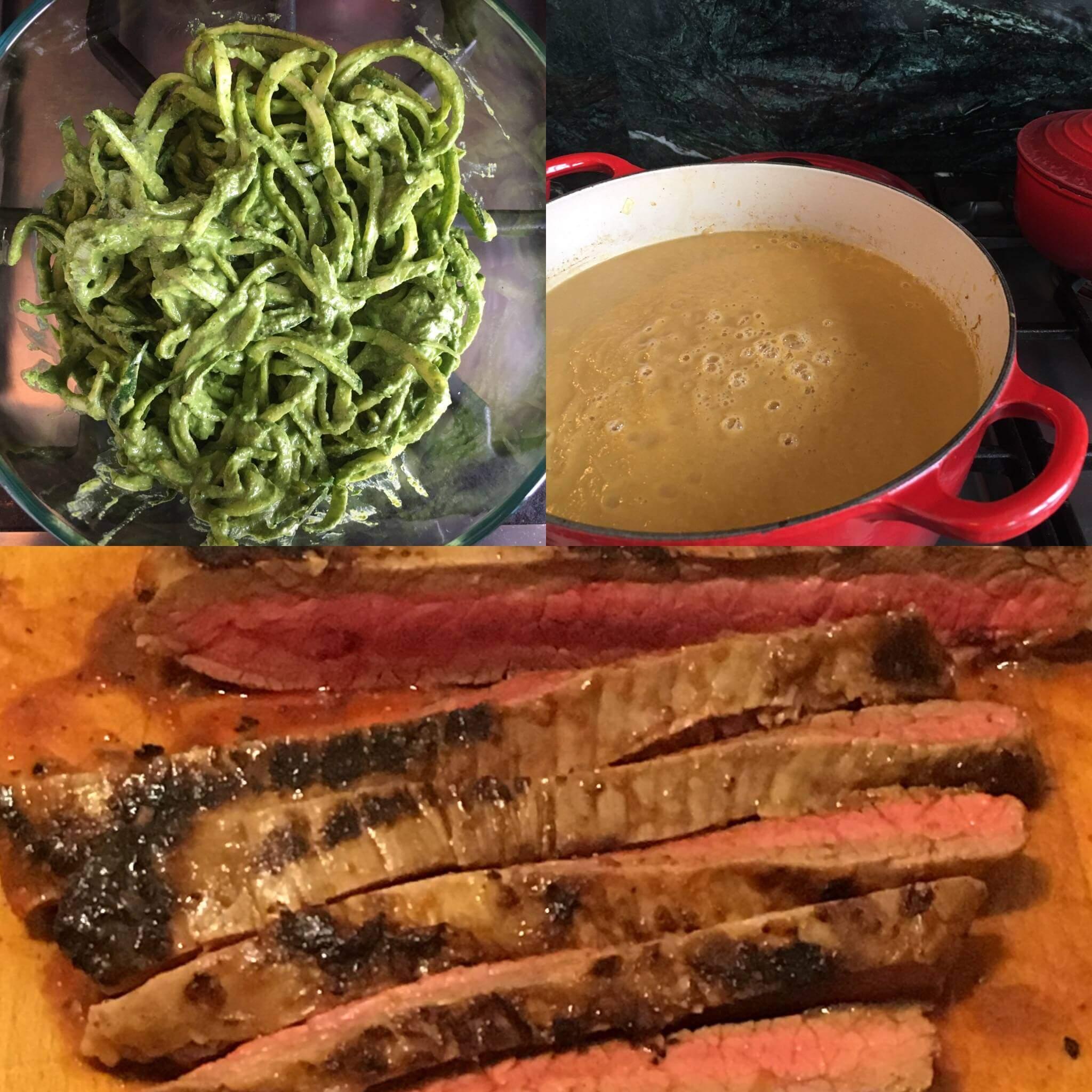 Weekly Recipe Round-Up: Flank Steak, Spinach Walnut Pesto, Curry Cauliflower Soup