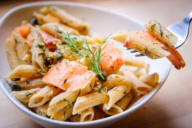 "NYC Smoked Salmon ""Everything Bagel"" Penne Pasta"