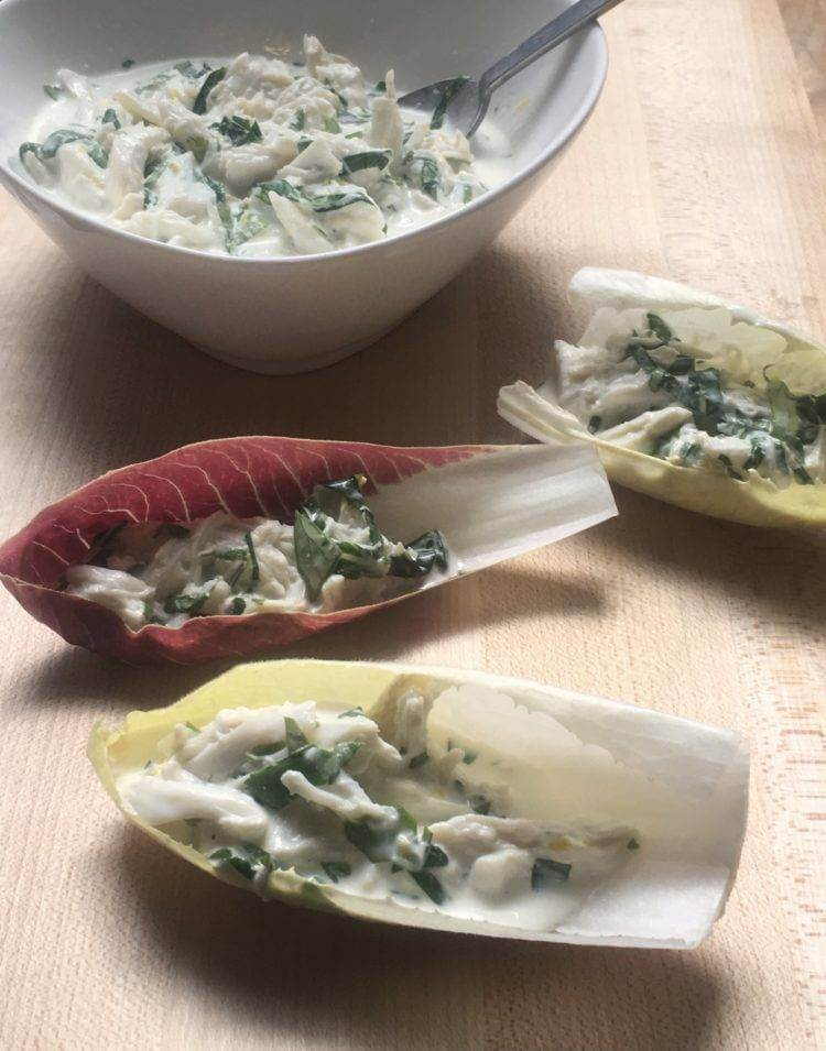 Easy Crab Salad with Endive