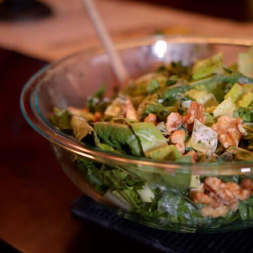 Crunchy Romaine Salad with Yogurt Dressing