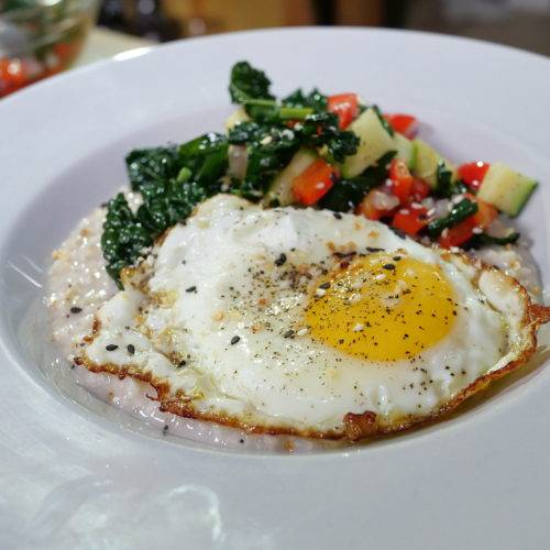 savory oatmeal egg
