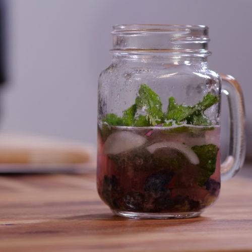 blueberry mint vodka cocktail