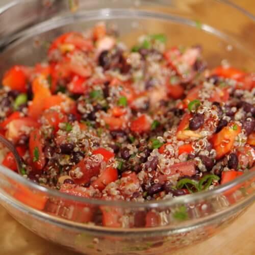 southwest black bean quinoa salad