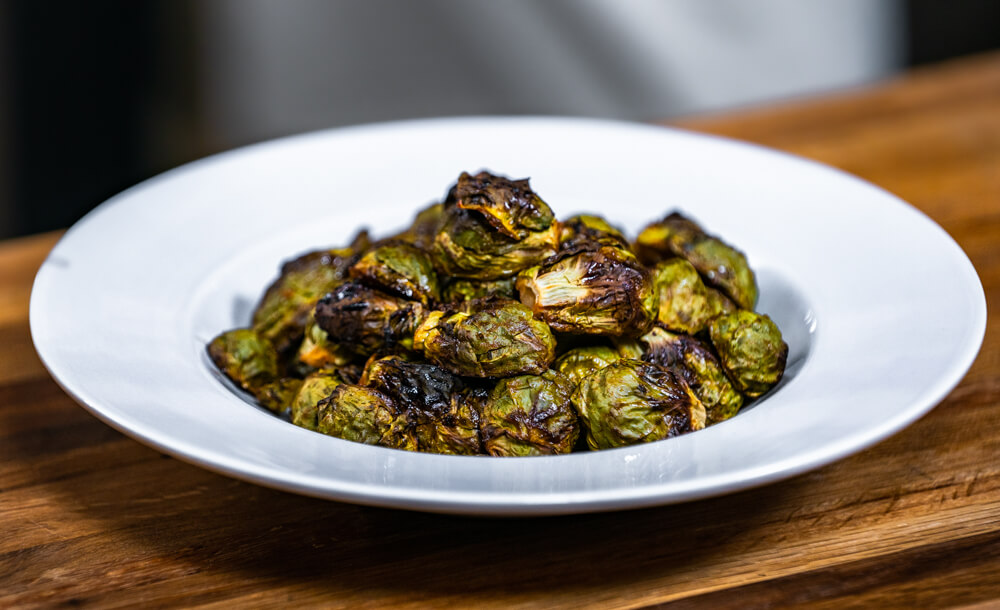 honey sriracha brussels sprouts