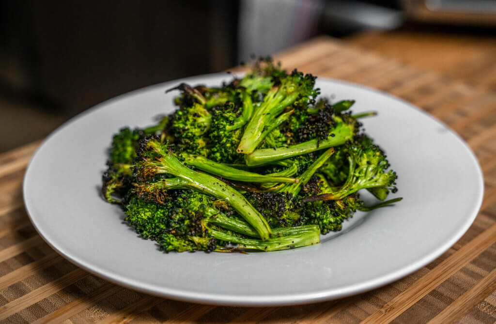 Side Angle, Air fryer broccoli, ABE-2772