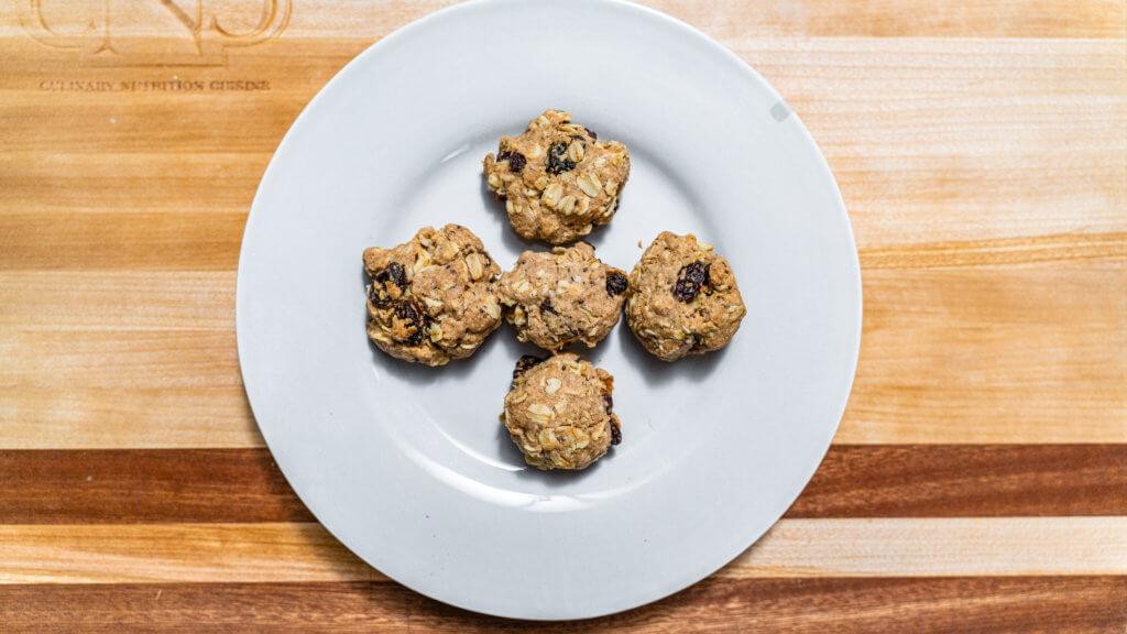Overhead, Vegan Oatmeal Cookies