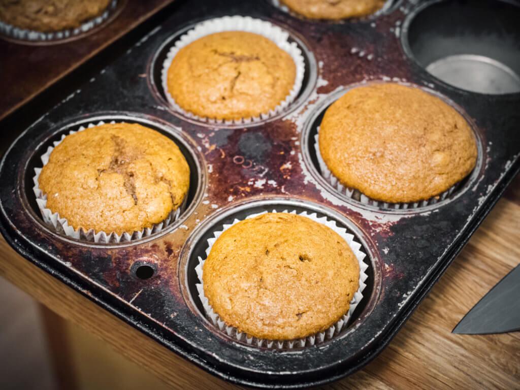 Side Shot, Gluten Free Pumpkin Muffins