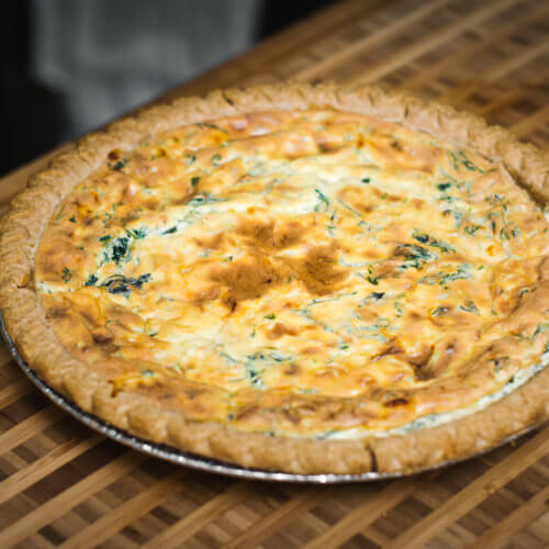 Side Shot, Ricotta Pie with Spinach